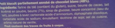 Petit beurre chocolat blanc - Ingrédients