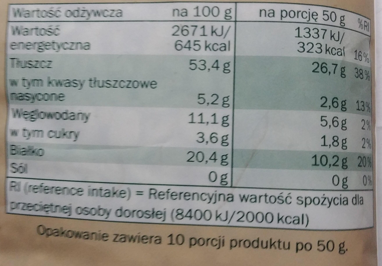 Słonecznik łuskany - Wartości odżywcze - pl