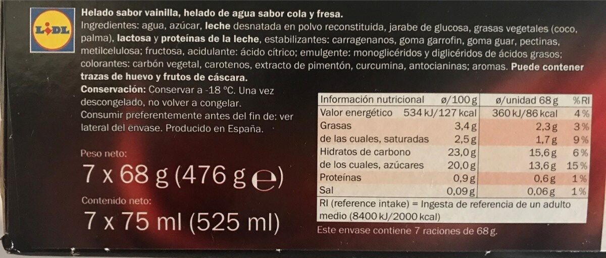 Eclipse - Ingredients