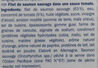 Filet de saumon sauvage sauce tomate - Ingrédients - fr
