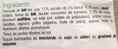 Tortellini - Ingredients