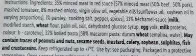 Chef Select Pastitsio - Ingredients - en