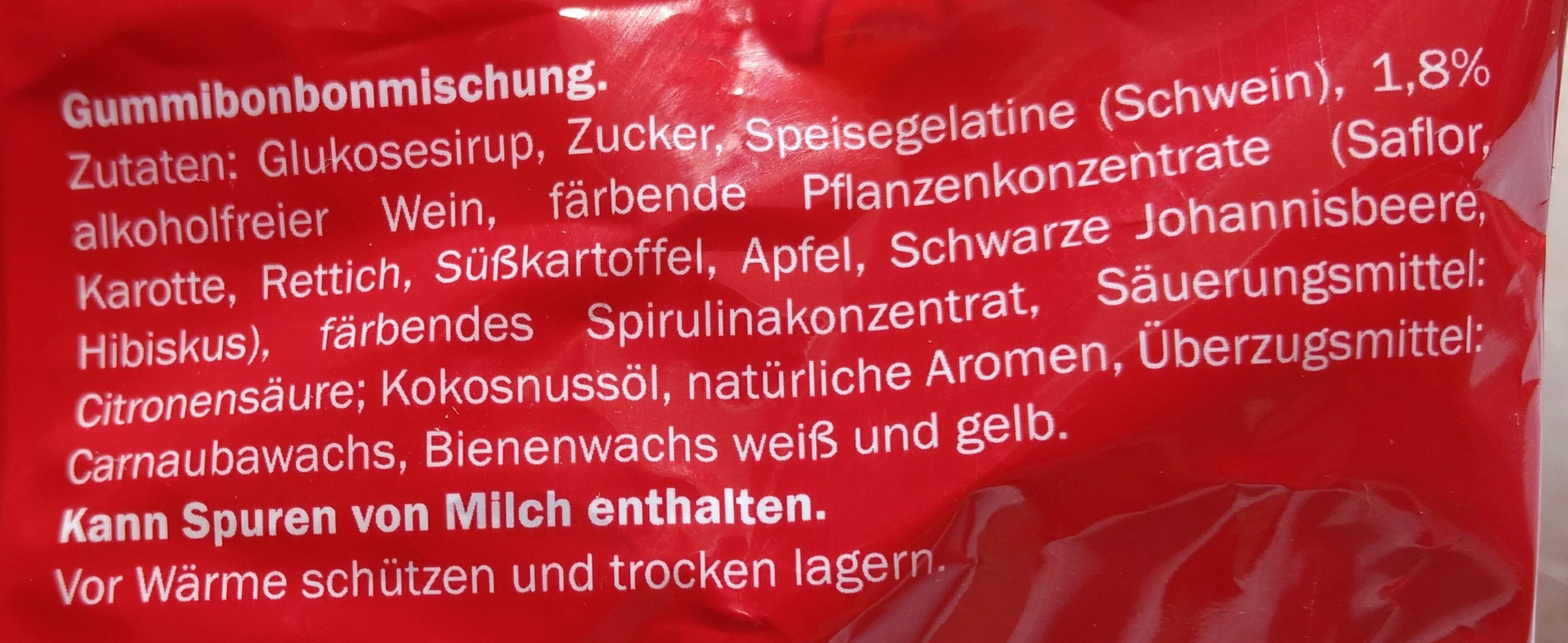 Sugarland Freche Trauben Weingummi 300g, Traubenw... - Ingredients