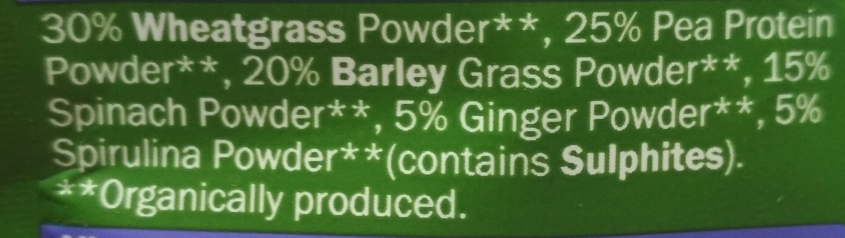 Supergreens blend - Ingredients
