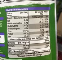 Supergreens blend - Nutrition facts