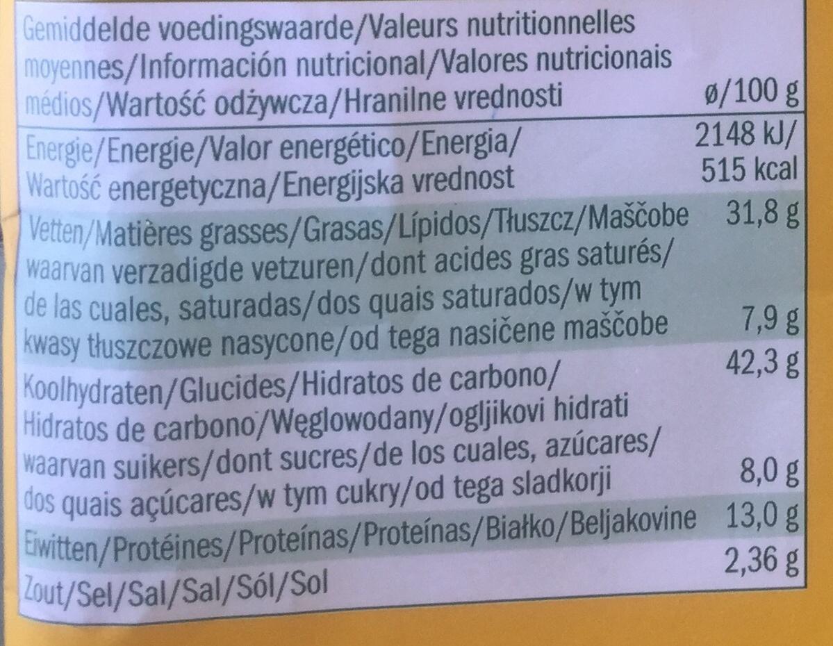 Alesto cruspies - Informations nutritionnelles - fr