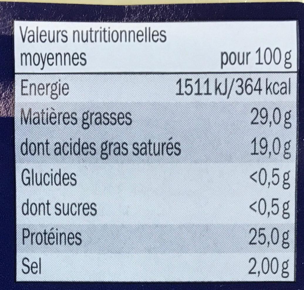 Cheese for burgers - Voedingswaarden - fr
