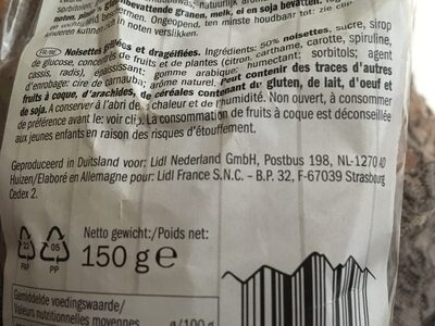 Noisettes grillees - Ingrediënten - fr