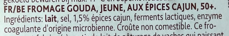 Fromage jeune aux épices cajun - Ingrediënten - fr