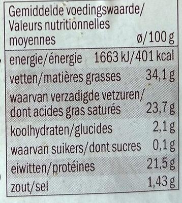 Fromage jeune aux épices cajun - Voedingswaarden - fr