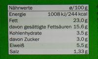Goldessa Feine Kräuter - Voedingswaarden - de