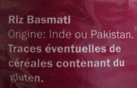 Basmatireis - Ingrédients - fr