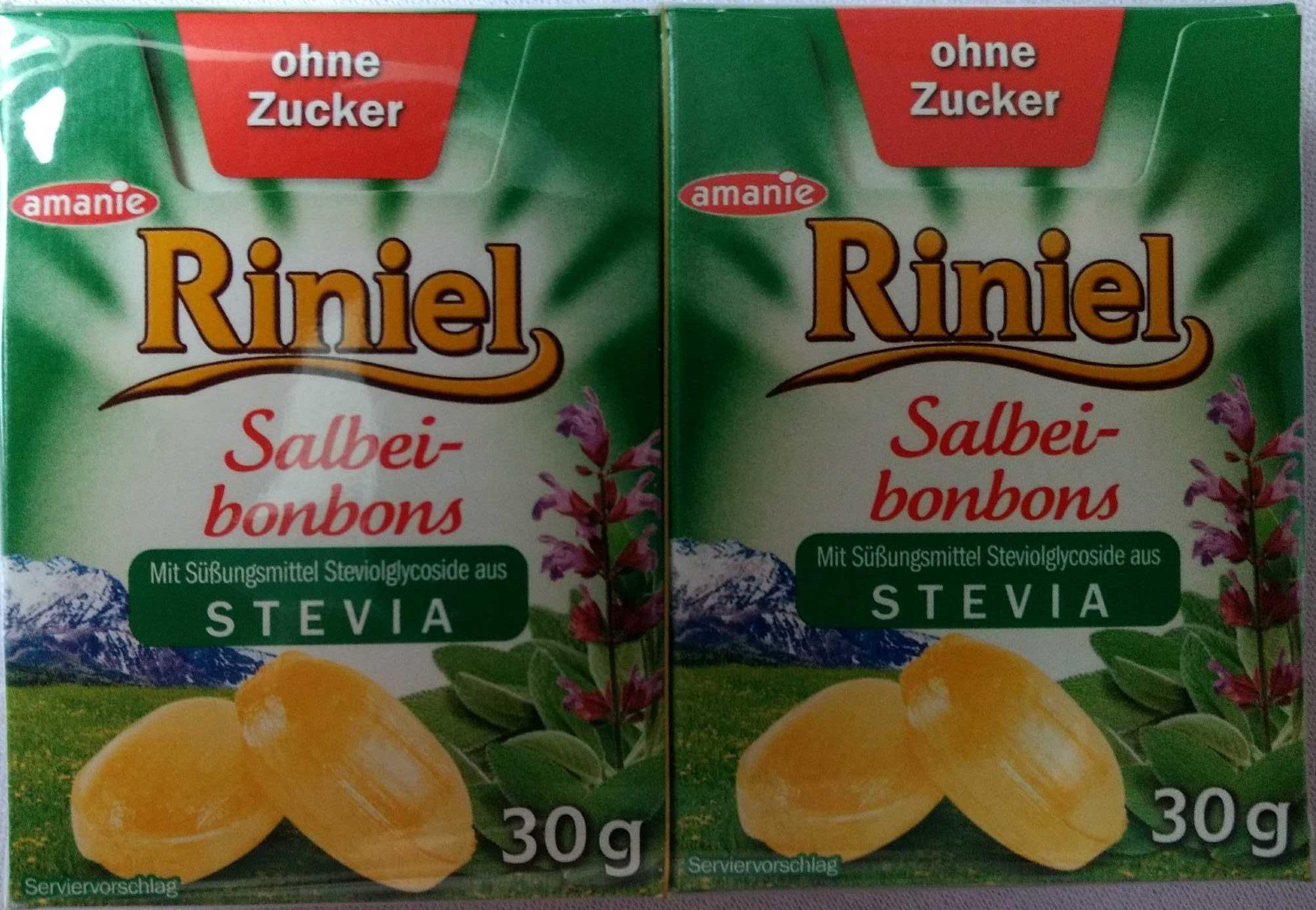 Riniel Ohne Zucker, Salbei Bonbons - Product - de