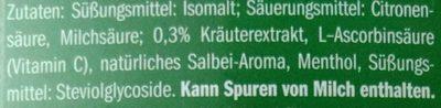Riniel Ohne Zucker, Salbei Bonbons - Ingredients - de