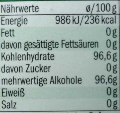 Riniel Ohne Zucker, Salbei Bonbons - Nutrition facts - de