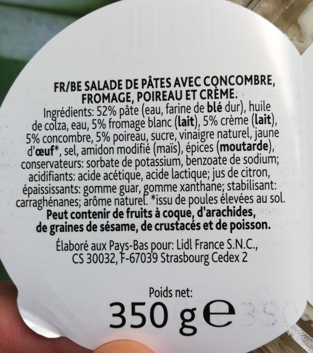 Salade de pâtes - Ingrédients - fr