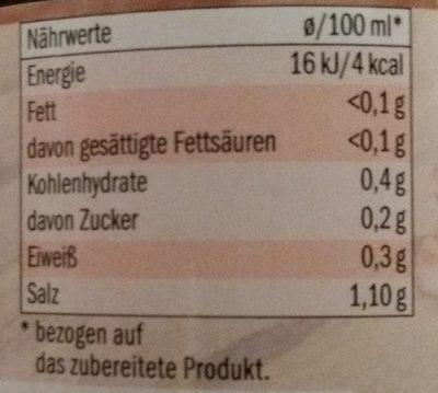 Rinderbrühe - Nutrition facts - de