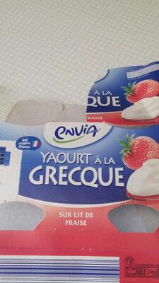 Yaourt à la grecque fraise - Product - fr