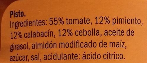Pisto - Ingredientes - es