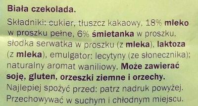 Chocolat blanc - Składniki - pl
