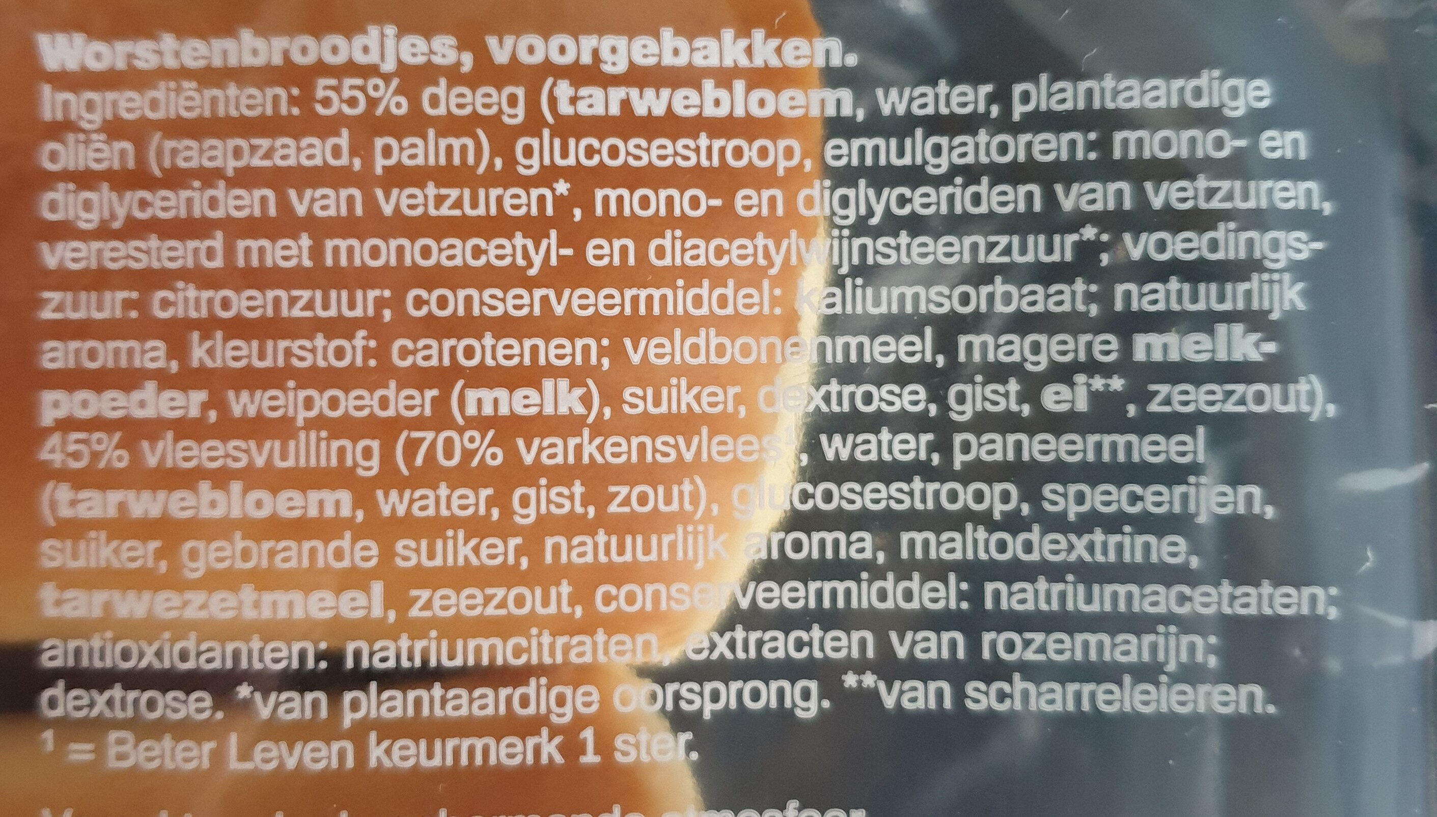 Worstenbroodjes - Ingredients - nl
