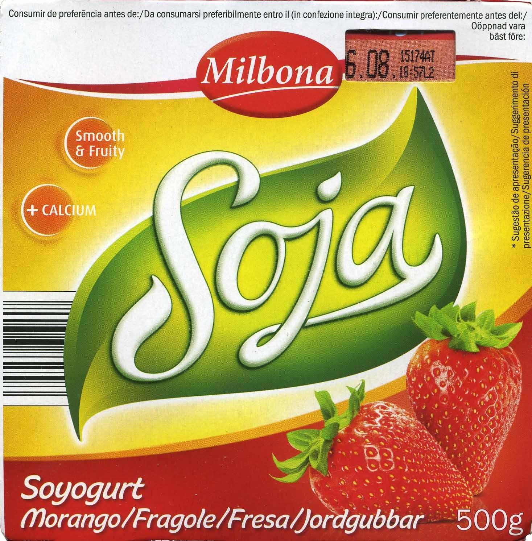 Postre de soja Fresa - Product