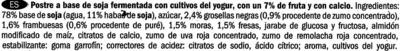Postre de soja Frutas del bosque - Ingredientes