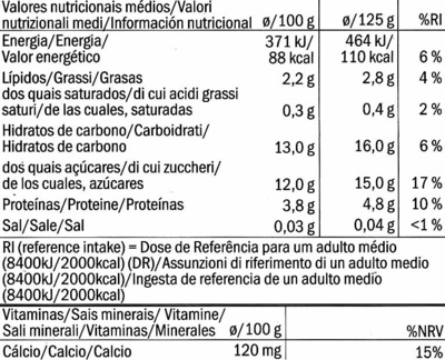 Postre de soja Melocotón - Nutrition facts