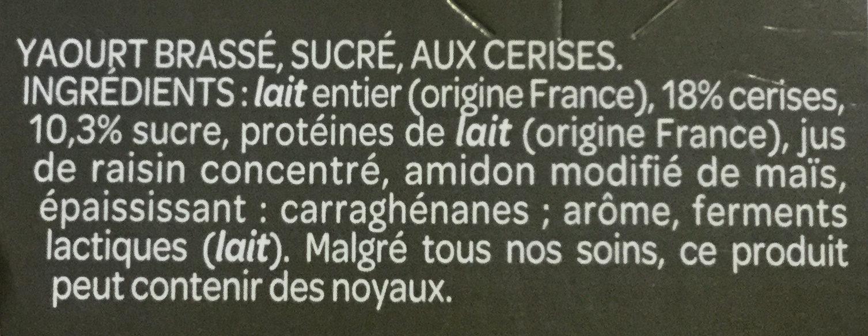 Grand Dessert - Yaourt Cerise - Ingredientes