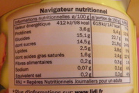Yaourt Ananas-Passion - Informations nutritionnelles - fr