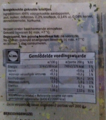 Pdt mini grenailles - Ingrediënten - nl
