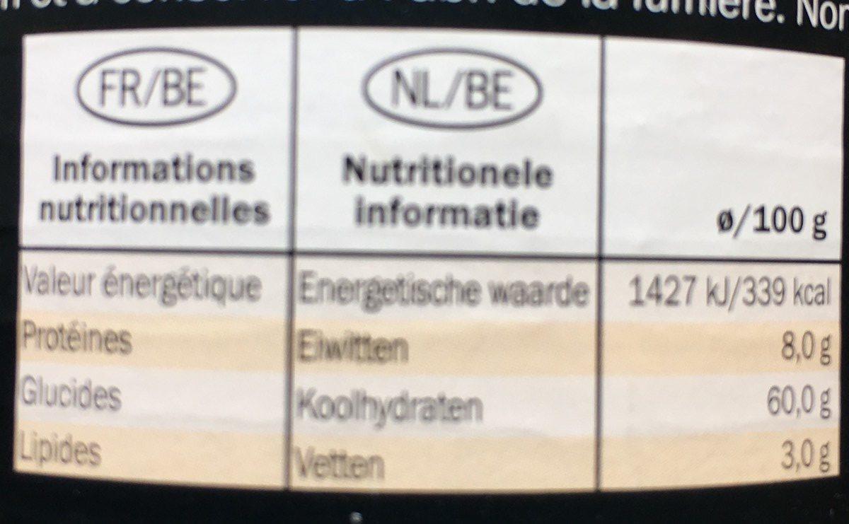 Jengibre liofilizado - Informations nutritionnelles - es