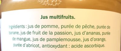 Multifruits Pur fruits pressés - Ingredients