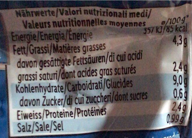 Instant Nudeln Schweinefleischgeschmack - Valori nutrizionali - de