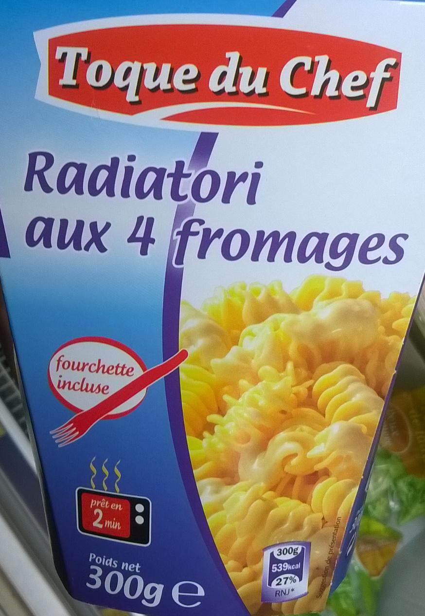 Radiatori aux 4 fromages - Produit - fr