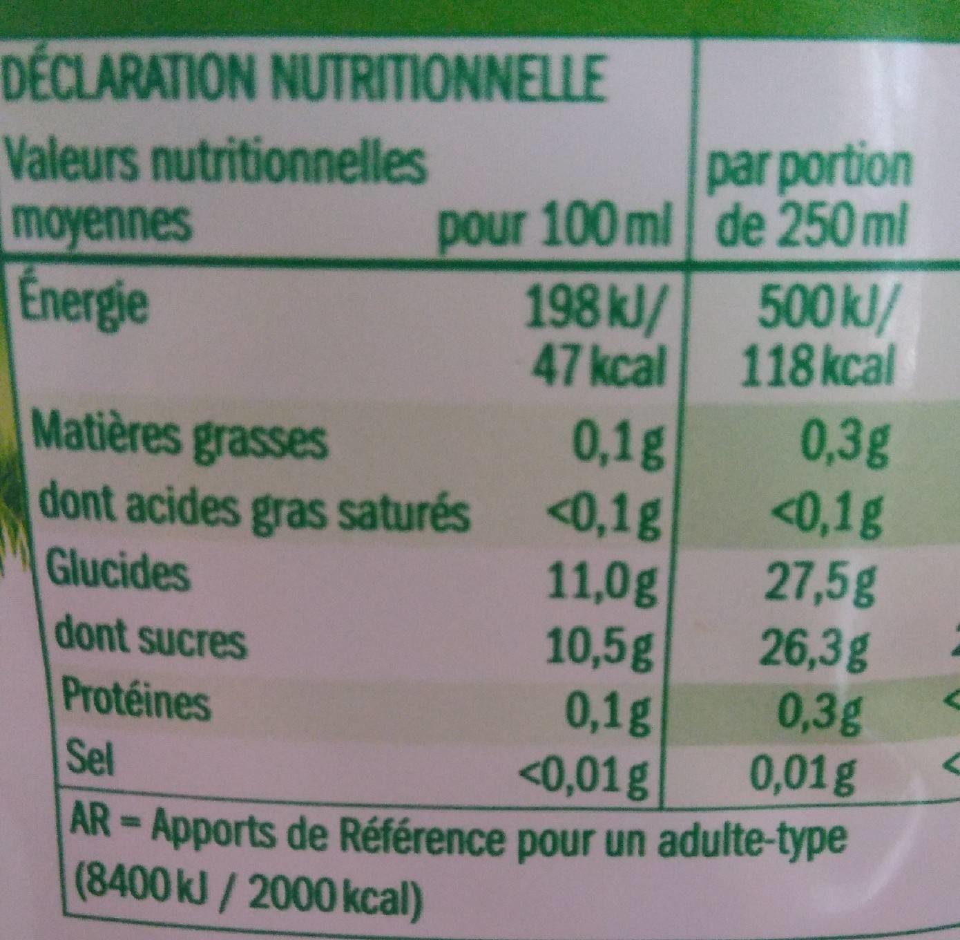 Pomme pur fruit pressé - Informations nutritionnelles - fr