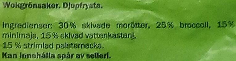 Freshona Wokgrönsaker - Ingrédients - sv