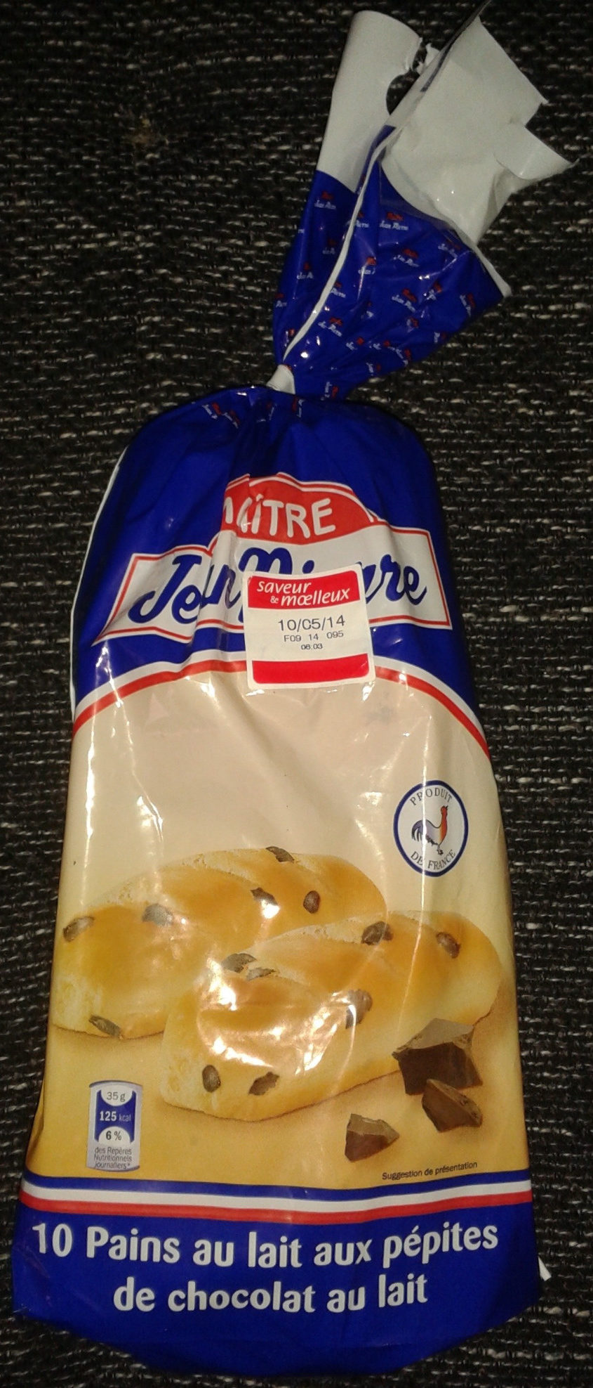 10 Pains au lait aux pépites de chocolat au lait - Produit - fr