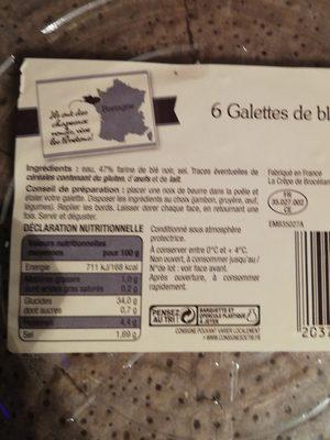 Galettes de blé noir - Produit