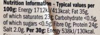 Mature blue Stilton - Informations nutritionnelles - en