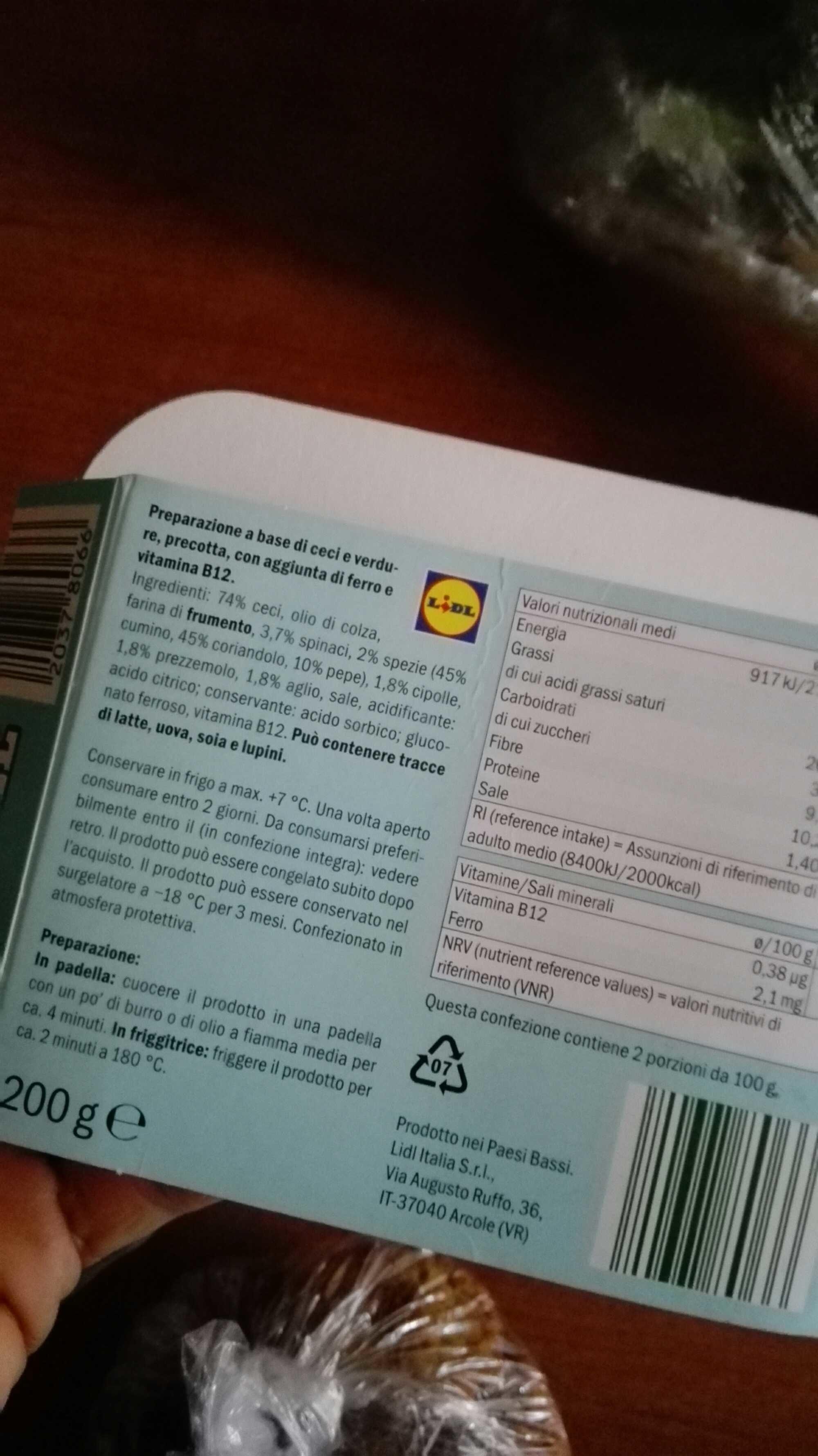 Lidl falafel mybestveggie - Produit - fr