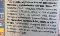 Lidl falafel mybestveggie - Ingrédients - fr