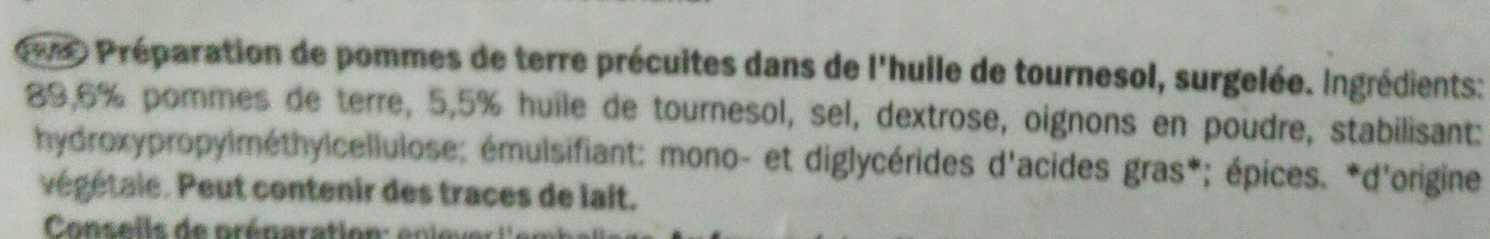 Duchess Potatoes - Ingredients - fr