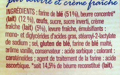 Mini gâches - Ingrédients - fr