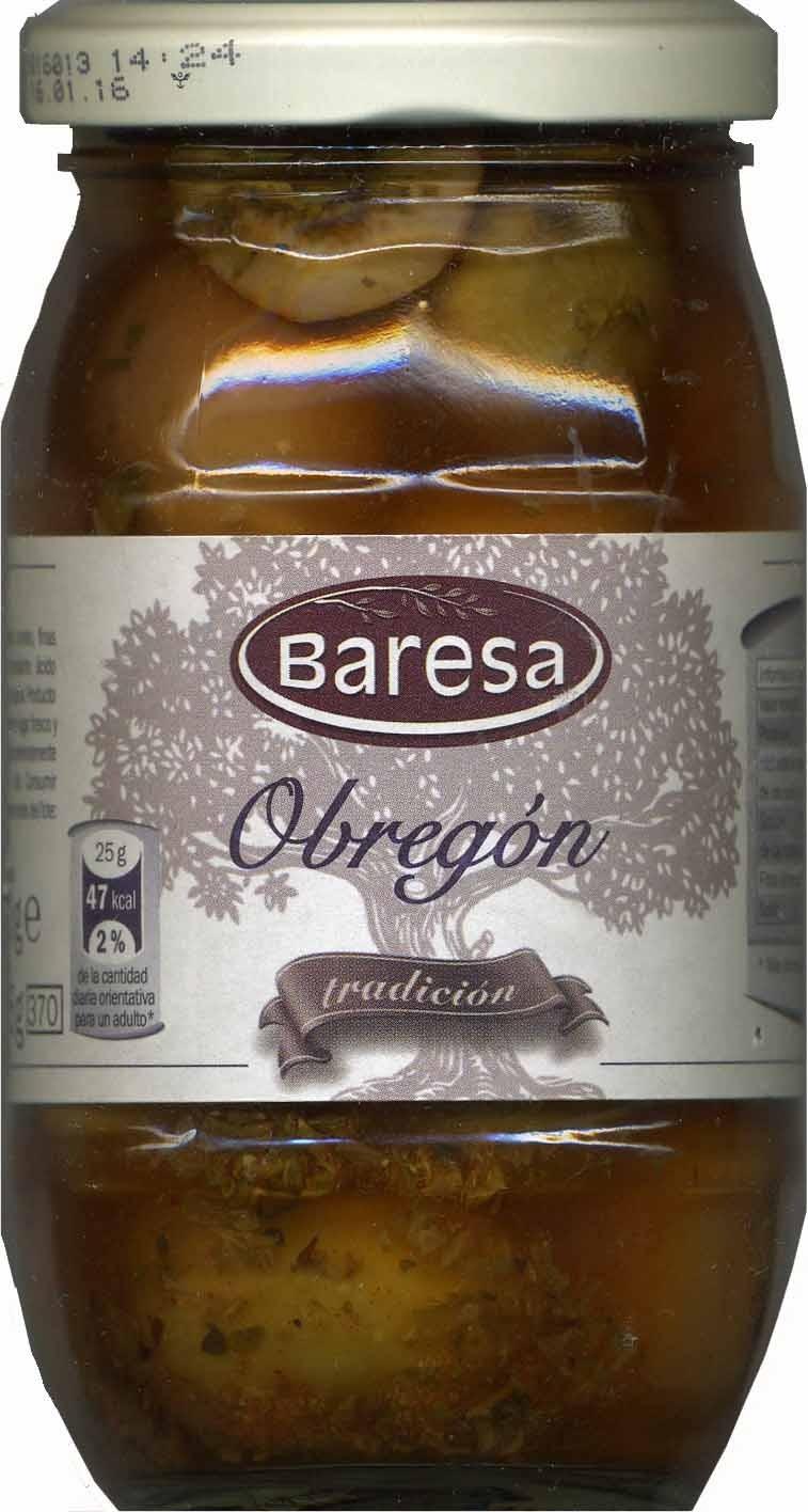 """Aceitunas verdes partidas aliñadas """"Baresa"""" Variedad Obregón - Producto - es"""