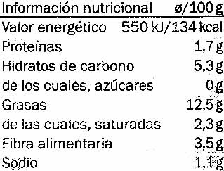 Aliño abuela - Nutrition facts