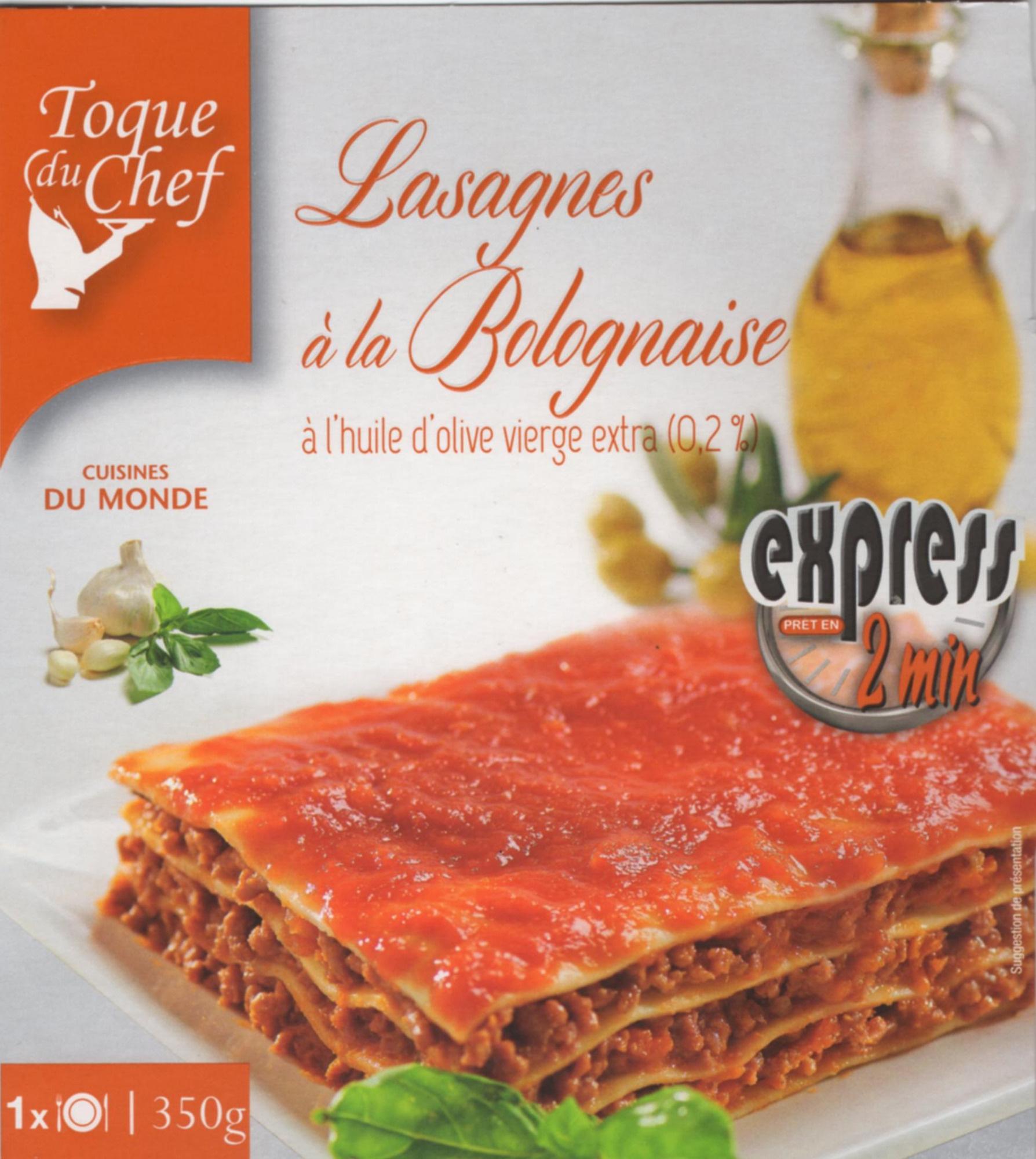 Lasagne à la Bolognaise à l'huile d'olive vierge extra (0,2%) - Producte