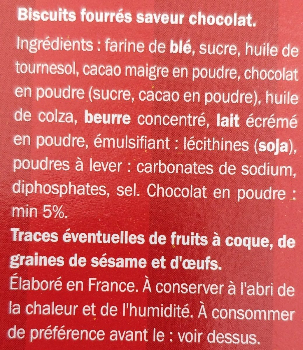 Evo Choc - Ingredients