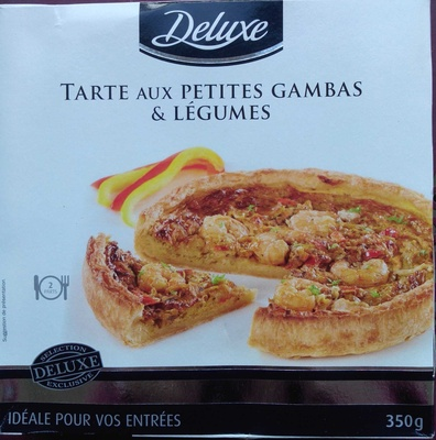 Tarte aux petites gambas & légumes - Produit - fr