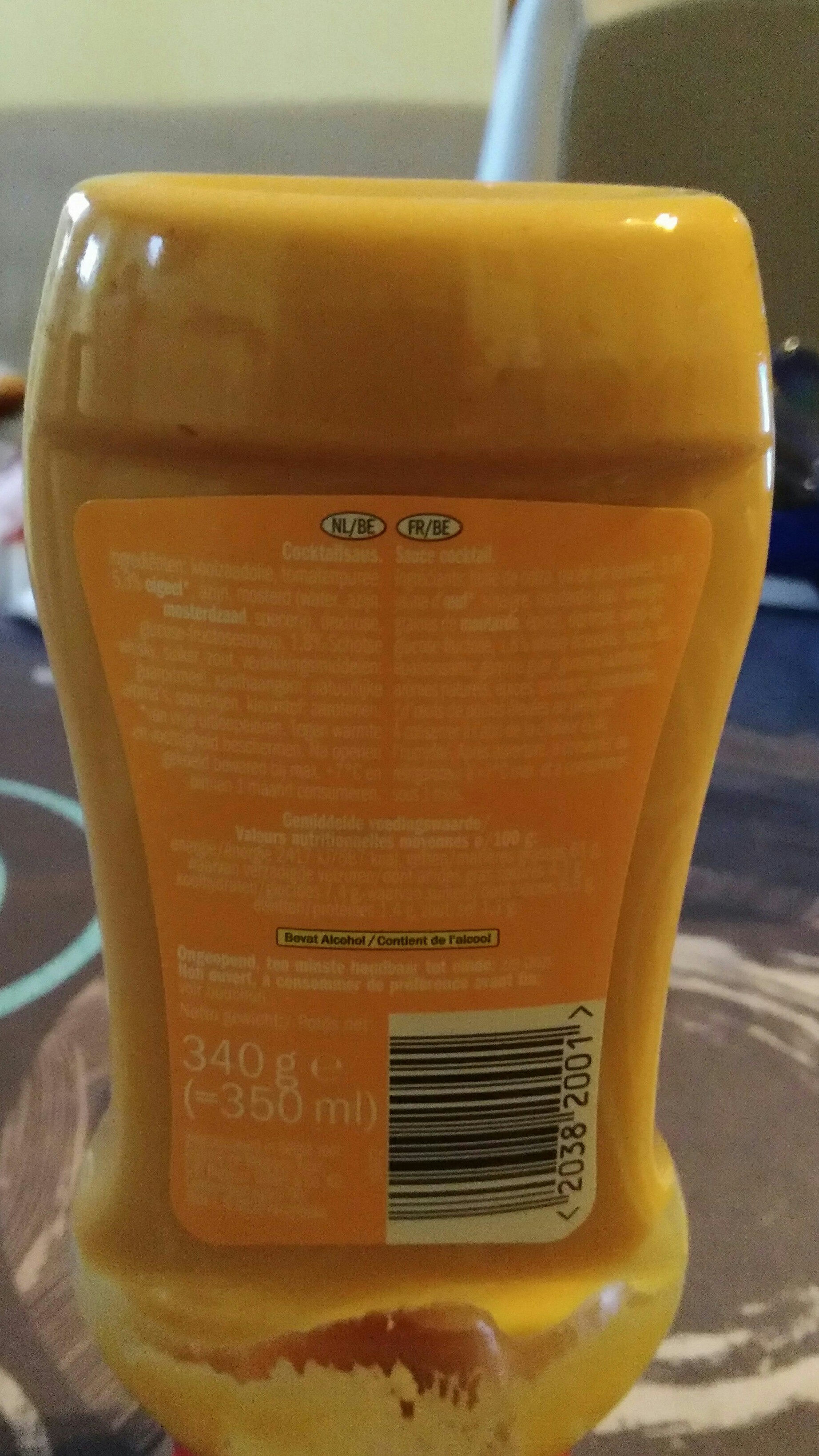 Sauce cocktail - Voedingswaarden - fr